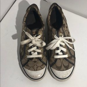 Authentic Coach Signature sneakers - Size 8B